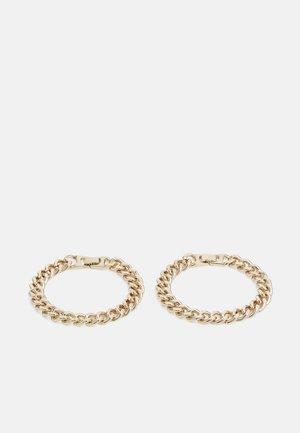 UNISEX 2 PACK - Bracelet - gold-coloured