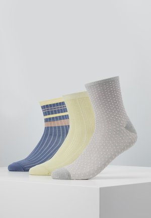 SPORTY RAINBIRD DRAKE SOCK DINA SMALL DOTS 3 PACL - Calze - infinity/yellow/silvergray