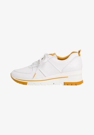 LACE UP - Sneakers laag - white/saffron