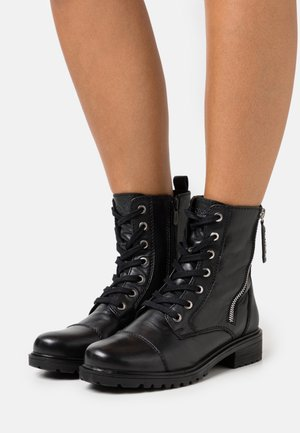FLISS - Lace-up ankle boots - black