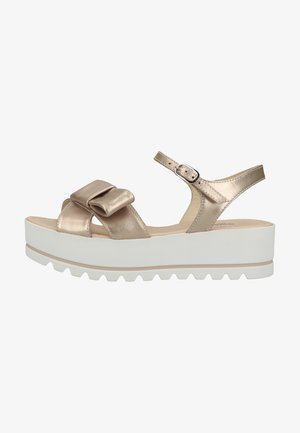 Sandalen met plateauzool - rosa antico