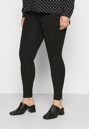 SHAPER TRIM BUTTON LEGGING - Leggings - Trousers - black