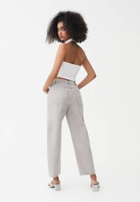 PULL&BEAR - Straight leg jeans - grey - 2