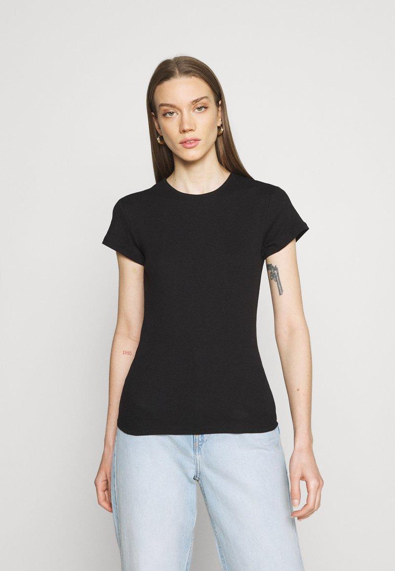 Vero Moda - VMLENA CAP SLEEVE - Basic T-shirt - black