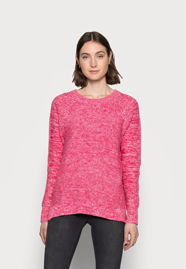 TEXTURED CREW - Pullover - misty rose