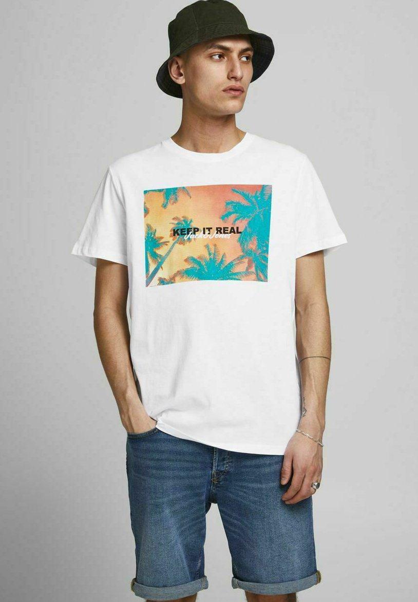 Herren JJSUMMER TEE CREW NECK - T-Shirt print