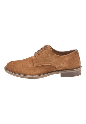 NAVY SUEDE DERBY SHOES - Stringate eleganti - brown