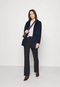 Calvin Klein - VALENTINES CREW NECK TEE - Printtipaita - light grey heather - 1