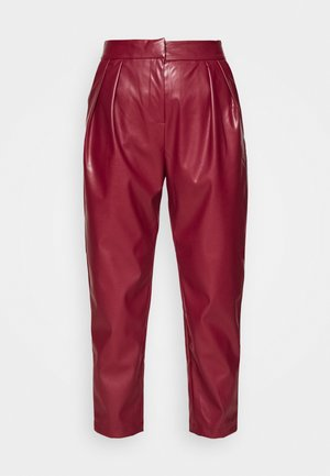 PLEATED TROUSER - Pantalones - maroon