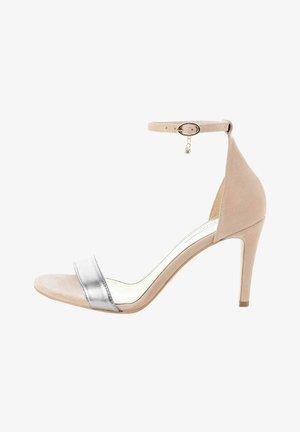 SALMONATO - Sandały na obcasie - beige