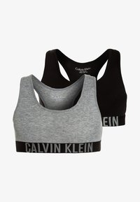 Calvin Klein Underwear - BRALETTE 2 PACK - Biustonosz bustier - grey heather/black - 0