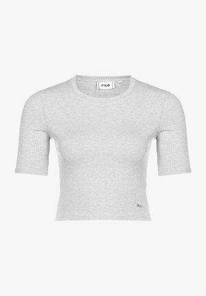 Basic T-shirt - light grey melange bros