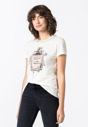 Print T-shirt - creme