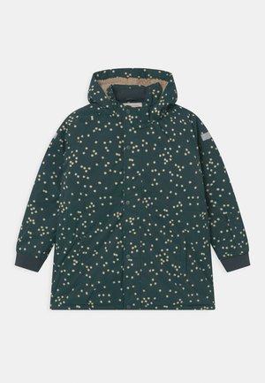 UNISEX - Winter coat - dark green/off-white