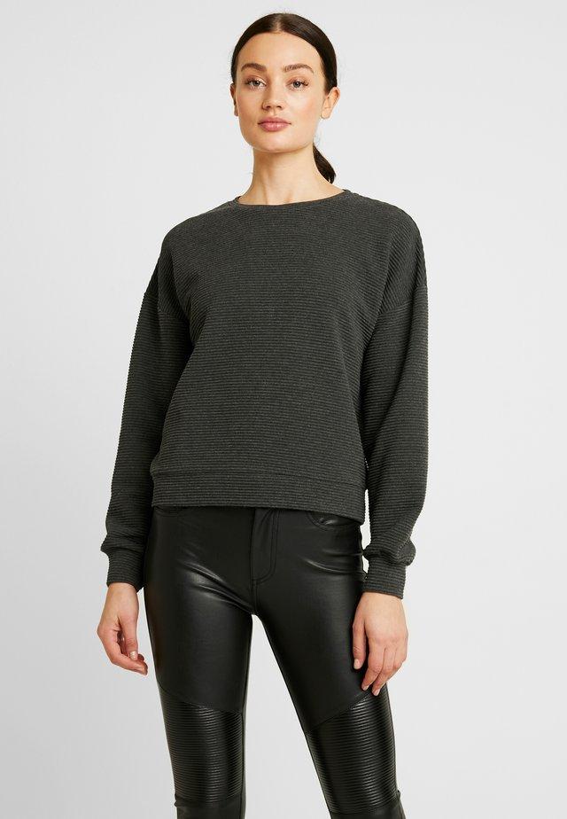 Sweater - dark grey melange