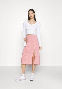 Hollister Co. - SLIP SKIRT - A-line skirt - coral - 1