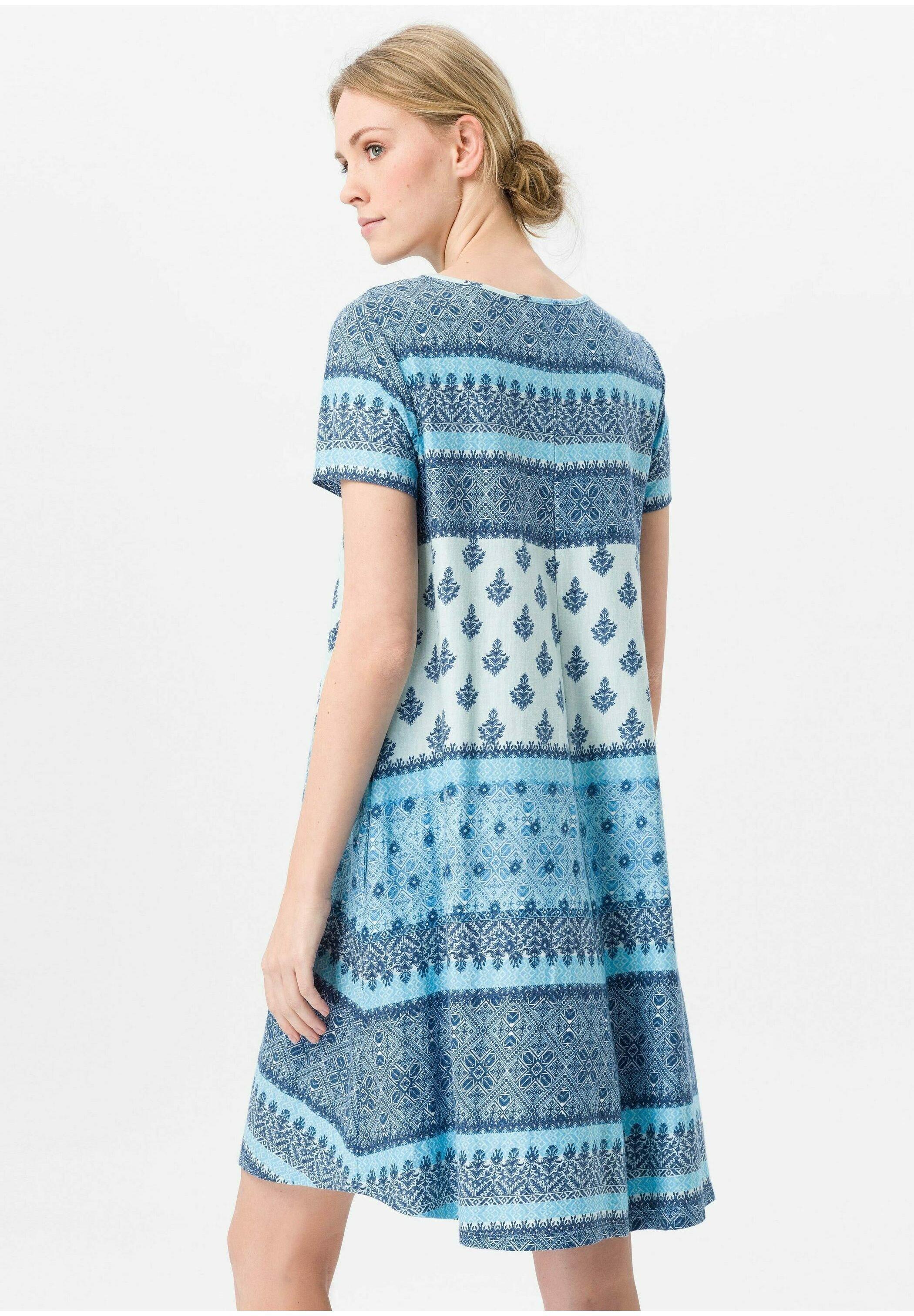 Green Cotton Jerseykleid blau/multicolor/blau