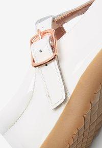 Next - Ankle strap ballet pumps - off-white - 2
