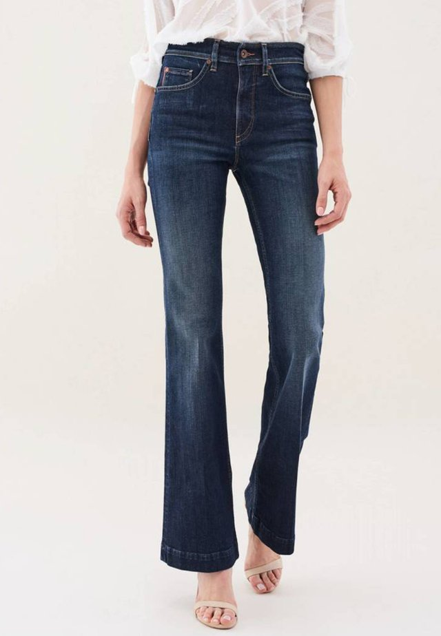 PUSH IN - Bootcut jeans - dark blue denim