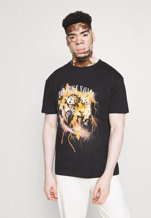 TIGER TEE - T-shirt print - black