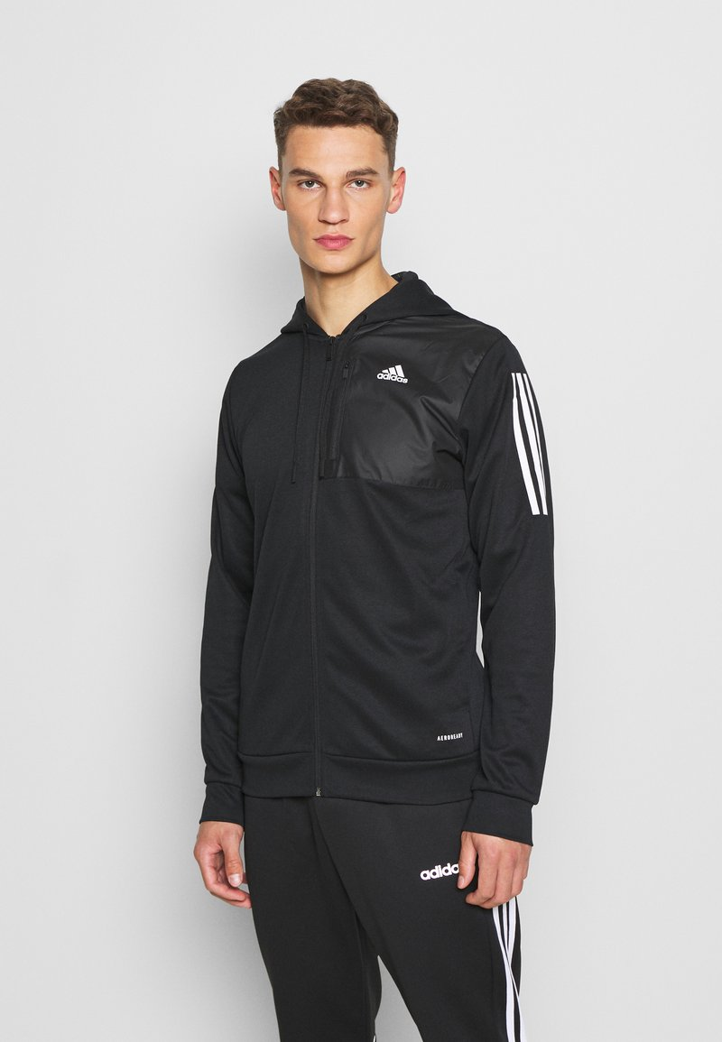 adidas Performance - AERO  - Zip-up hoodie - black
