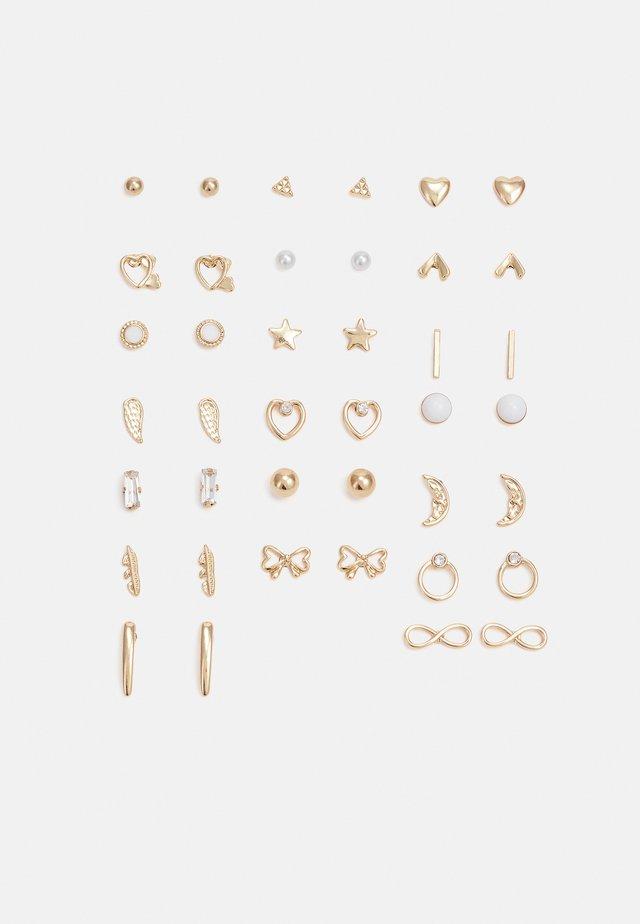 PCQUINTA EARSTUDS KEY 20 PACK - Kolczyki - gold-coloured