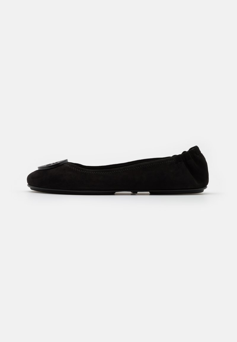 Tory Burch - MINNIE TRAVEL WITH PAVE LOGO - Ballet pumps - perfect black