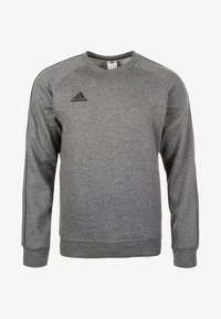 adidas Performance - CORE ELEVEN FOOTBALL LONG SLEEVE PULLOVER - Sudadera - dark grey - 0