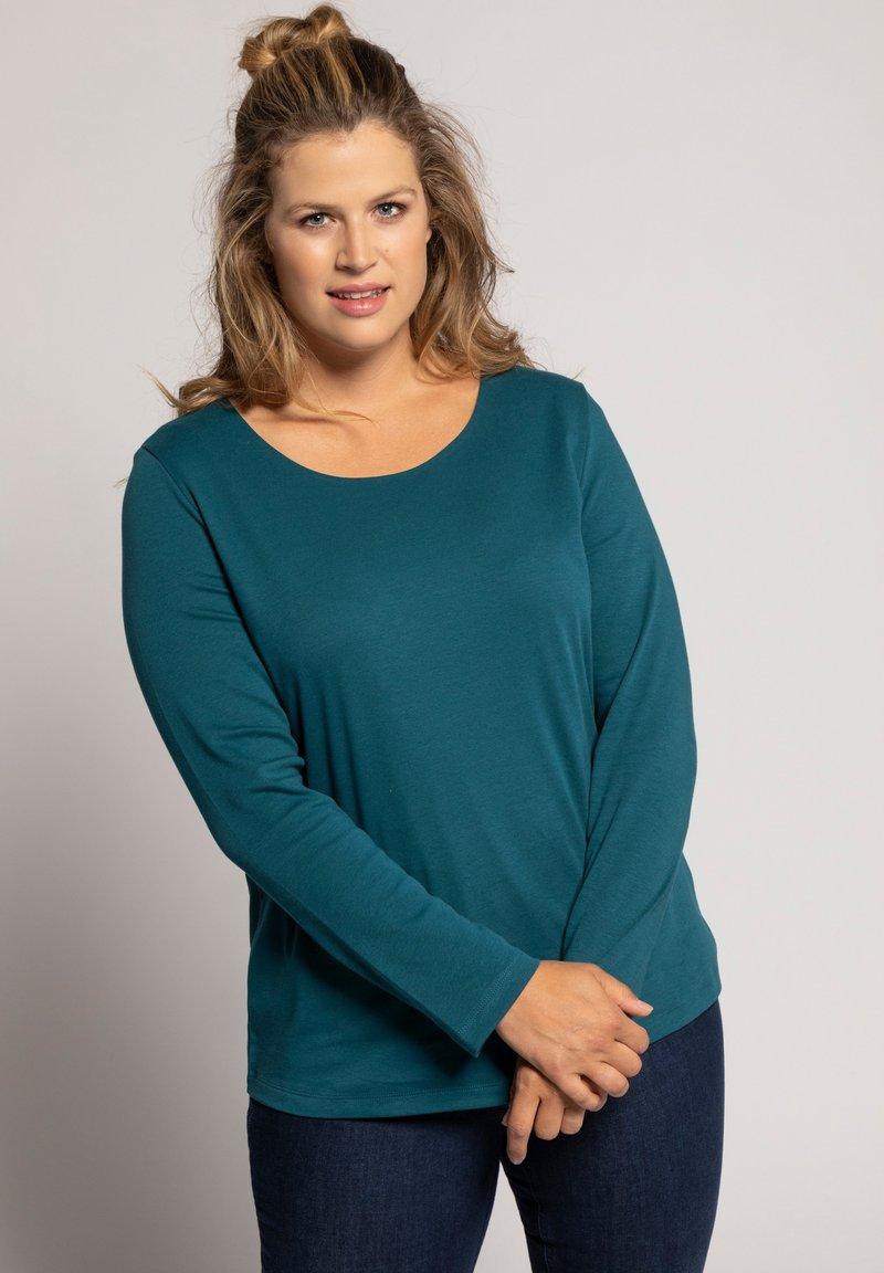 Ulla Popken - T-shirt à manches longues - tannengrün