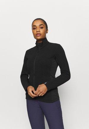 LADIES - Zip-up hoodie - black