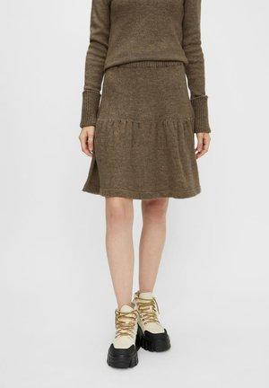 A-line skirt - dark brown