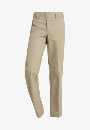 873 SLIM STRAIGHT WORK PANT - Trousers - khaki