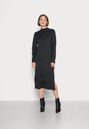RIAZALF WOMAN DRESS - Gebreide jurk - dark grey melange