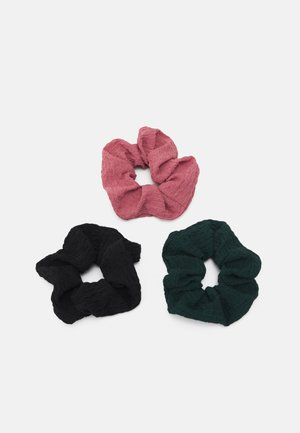 ONLEMMA SCRUNCHIE 3 PACK - Hair styling accessory - chinois green/pink/black