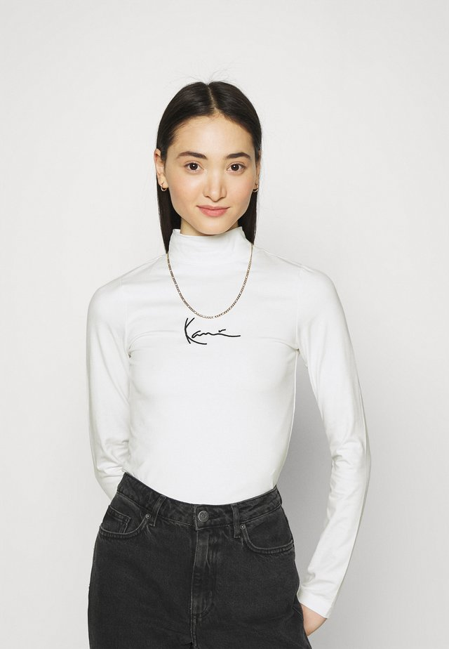 SMALL SIGNATURE TURTLE - Long sleeved top - white