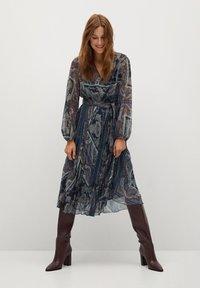 Mango - DESIRE - Day dress - dunkles marineblau - 1