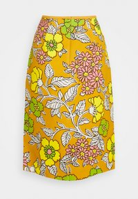 Tory Burch - PRINTED PENCIL SKIRT - Pencil skirt - rust wallpaper - 1