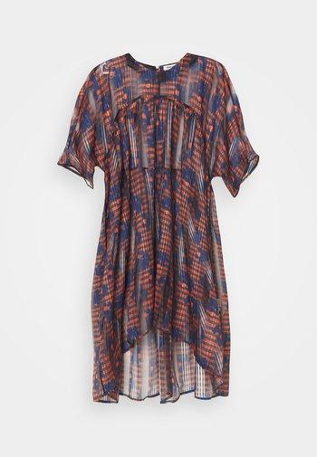 LAVA DRESS - Denní šaty - orang/ blue