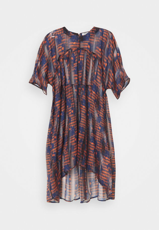 LAVA DRESS - Korte jurk - orang/ blue