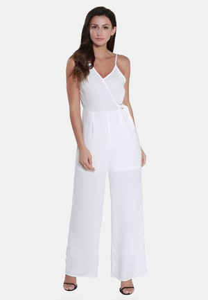 Jumpsuit - woolen white