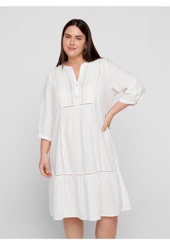 MAUSTIN KNEE DRESS - Korte jurk - bright white