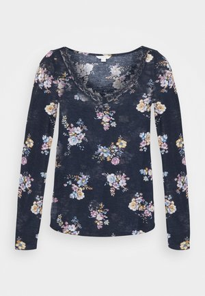 Long sleeved top - medium blue