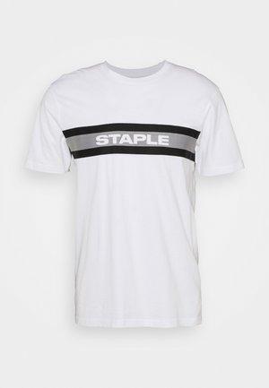TAPE LOGO UNISEX - T-shirt con stampa - white