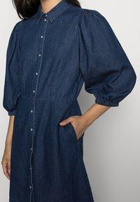 Vila - VITOMA DAIZY SLEEVE DRESS - Shirt dress - dark blue denim - 4