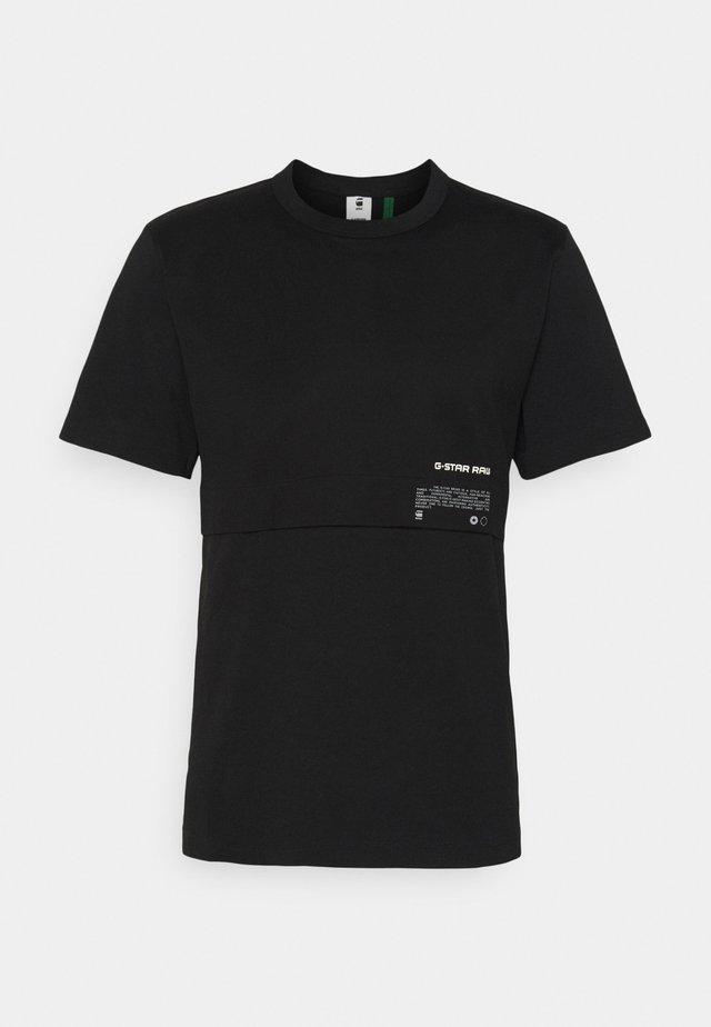 MERCERIZED - Print T-shirt - black