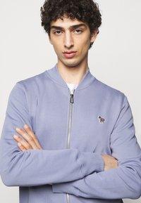 PS Paul Smith - MENS ZIP BOMBER - Sweat à capuche zippé - blue/grey - 4