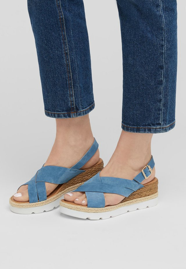 CROSS-OVER  - Espadrillas - mottled blue