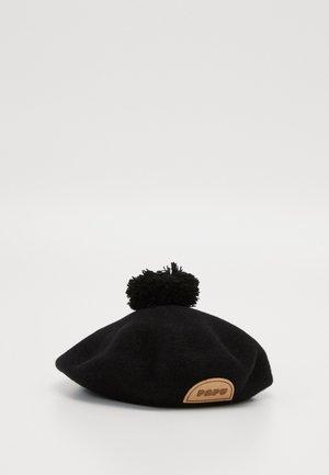 POM POM BERET - Beanie - black