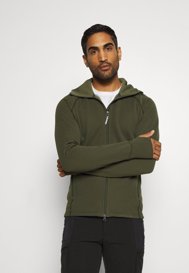 MONO AIR HOUDI - Zip-up hoodie - willow green