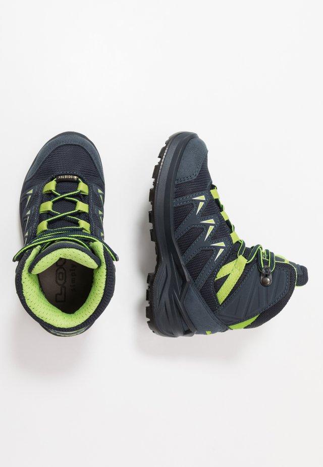 INNOX PRO GTX MID JUNIOR - Hiking shoes - stahlblau/limone